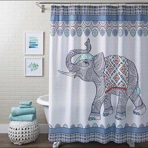 Other - Boho elephant shower curtain